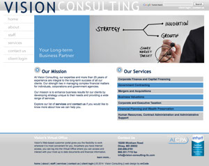 Vision Consulting Website Thumbnail