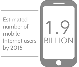 1.9 billion mobile internet users by 2015.
